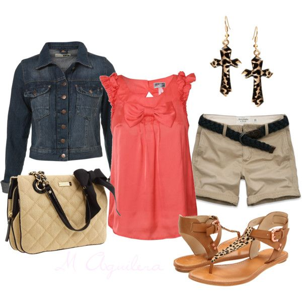 """""""Coral with a touch of leopard"""" by mayra-aguilera on Polyvore"""