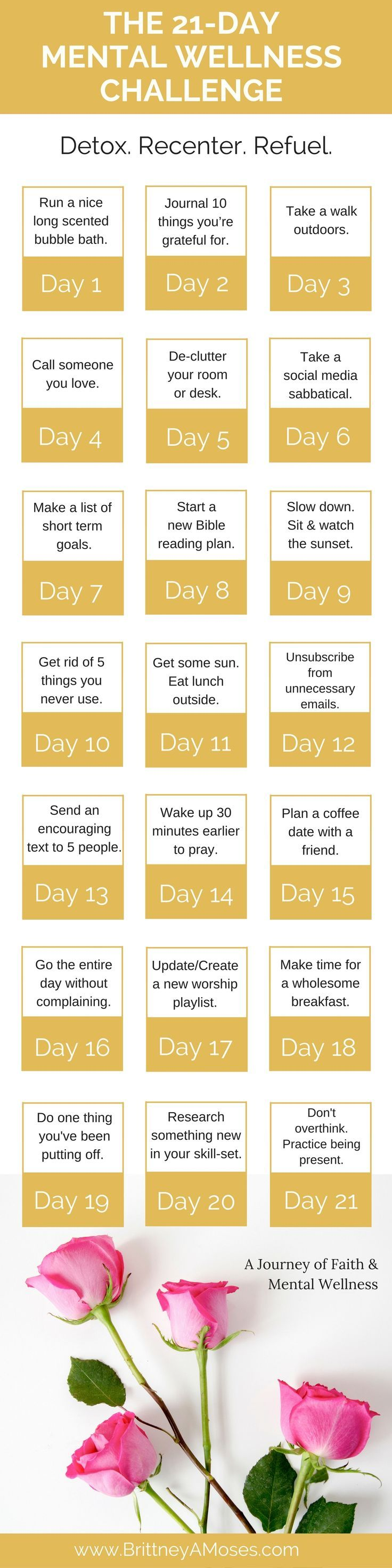 21-Day Mental Wellness Challenge! -Brittney Moses What a great thing! Let's do it!