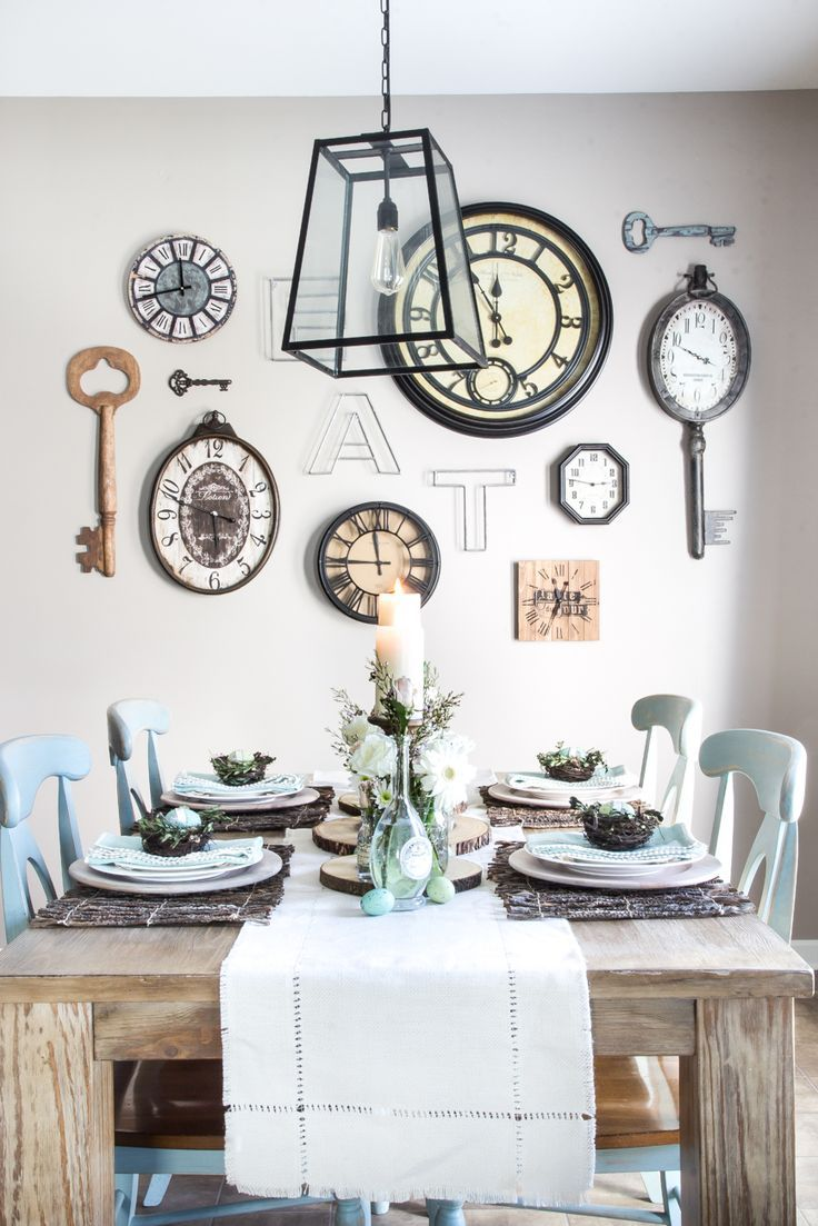 Kitchen Wall Clock Decor Ideas 57 best gallery walls images on pinterest | gallery walls, live