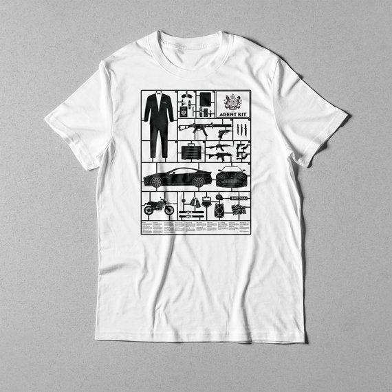 SECRET AGENT KIT - White t-shirt (012)