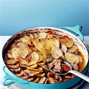 Lancashire hotpot recipe. A favourite dish with families, this traditional English recipe is cheap to make, only costing less than £2 a head.