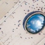 An Aerial View of Anish Kapoor's Reflective 'Cloud Gate' Sculpture