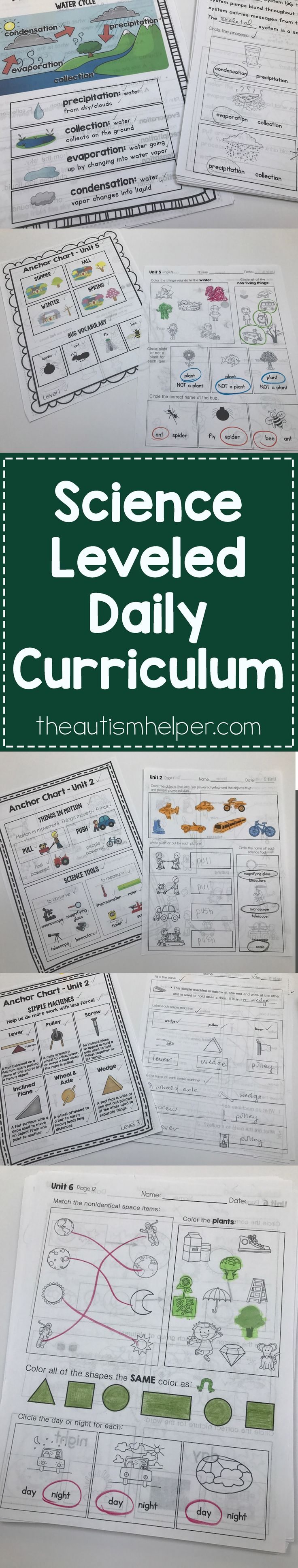 Love the structure, organization & peace of mind of having your entire curriculum planned & ready to roll?! Well I'm happy to announce that my Science Leveled Daily Curriculum is here! I want to show you everything that's included, so head to the blog for product video tours & more!! From theautismhelper.com #theautismhelper