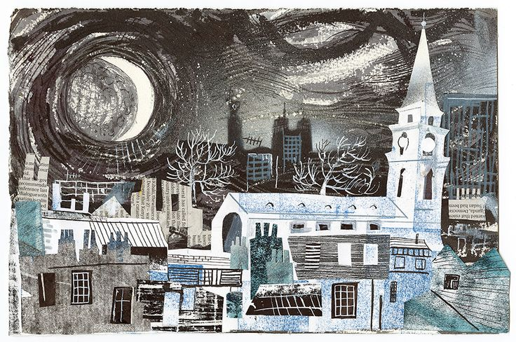 Mark Hearld collage for Spitalfields Life. See more of Mark's work online... http://www.stjudesprints.co.uk/collections/mark-hearld