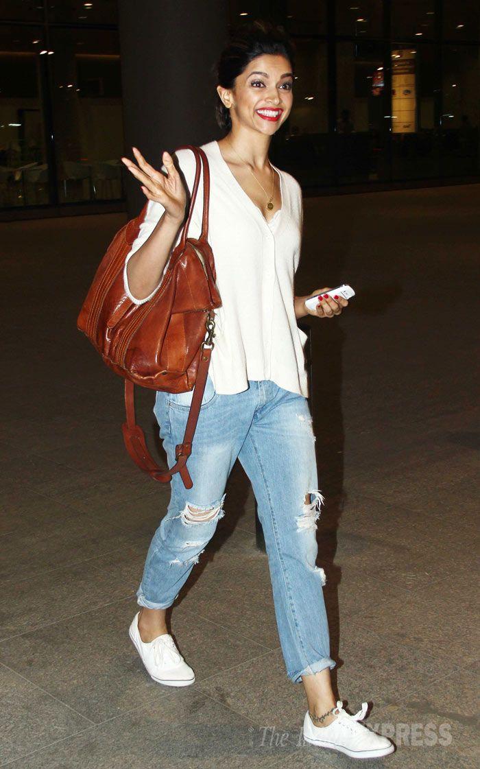 Deepika Padukone returning from the #IIFA Awards.