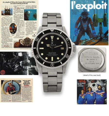ROLEX REF. 1665 SEA-DWELLER JANUS IV WORLD RECORD -501M, PERSONAL WATCH OF MR PATRICK RAUDE – ONE OF SIX MADE.
