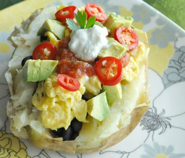 Breakfast Baked Potato | Breakfast | Pinterest