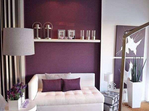 Trendy Interior Designs For Unique And Whimsical Ambience In Modern House Contemporary Living Room With Purple Accent WallsPurple