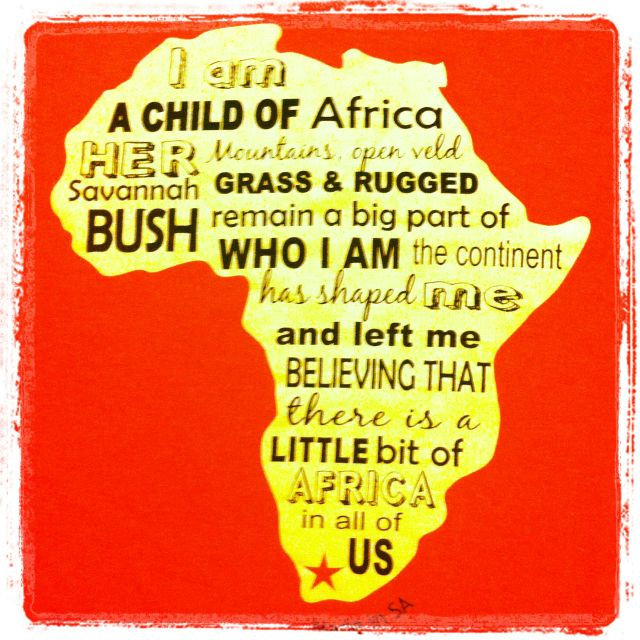 So true. Those of us  born in Africa can never really cut the umbilical cord that binds our hearts to Mother Africa.