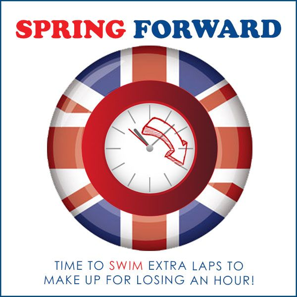 Spring Forward➡️ Time to #swim extra laps to make for losing an hour! #Daylightsaving time 2017 in #Florida will start at 2:00 AM on Sunday, March 12.