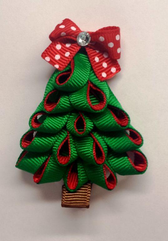 O CHRISTMAS TREE HAIR CLIP - $4.99 #onselz