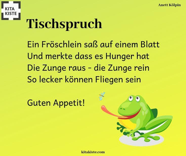 Tischspruch / Reime zum Thema #tiere #frosch #fliegen – #fliegen #frosch #