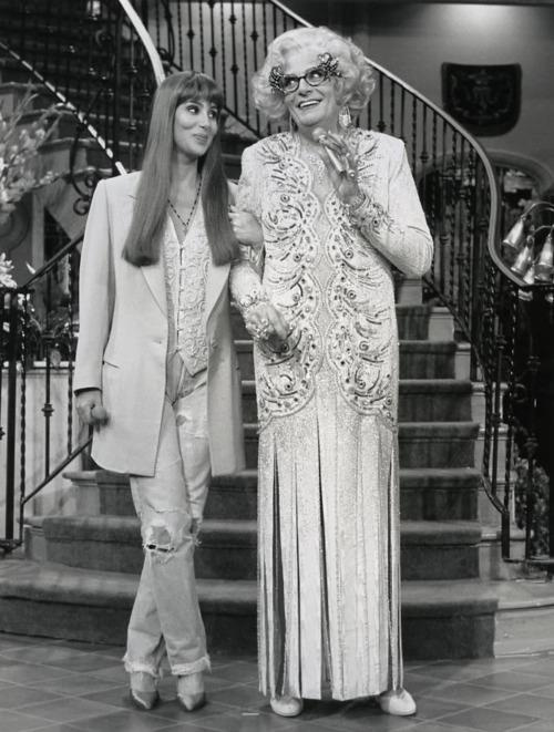 Cher and Dame Edna