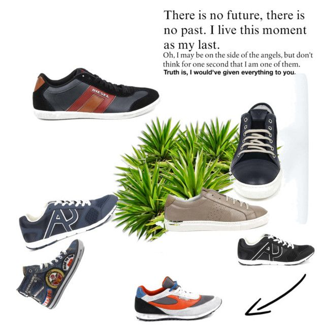 """""""Men's Diesel Shoes Collection"""" by dare2buyonline on Polyvore featuring men's fashion and menswear"""