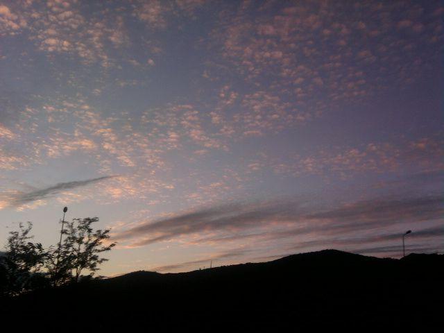 e nubi danno spettacolo
