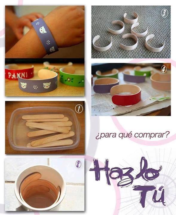Hacer pulseras con palos de helados! | Manualidades Gratis