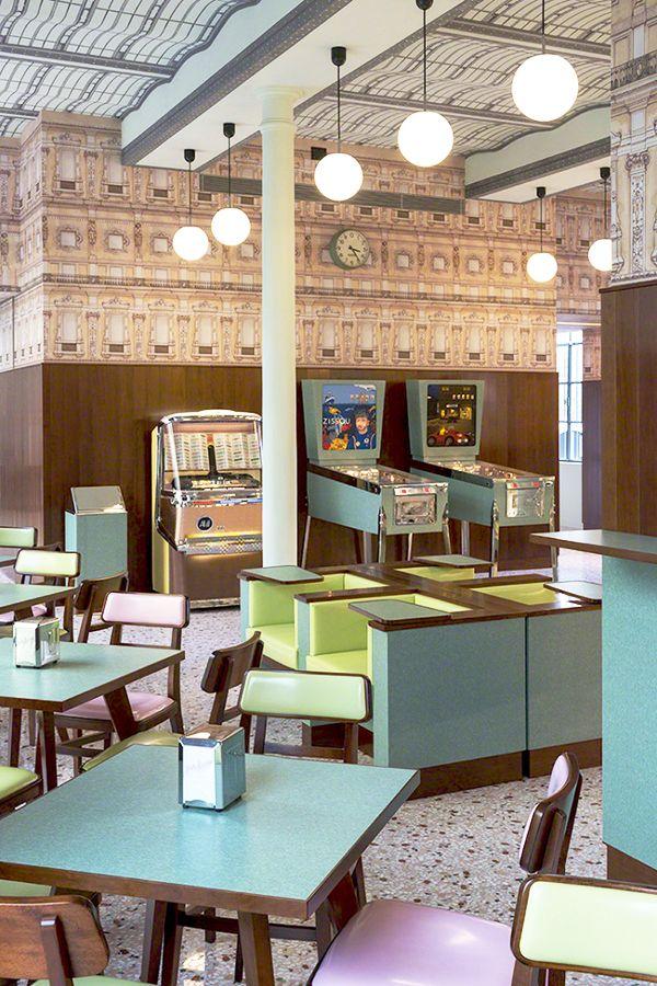 Bar Luce / via door sixteen #wesanderson #cafe #interiors