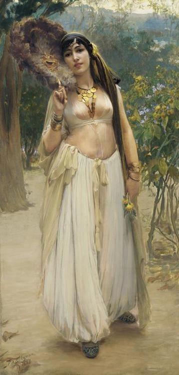 Soir/ Summer Evening  Frederick Arthur Bridgeman  Another Orientalist painting