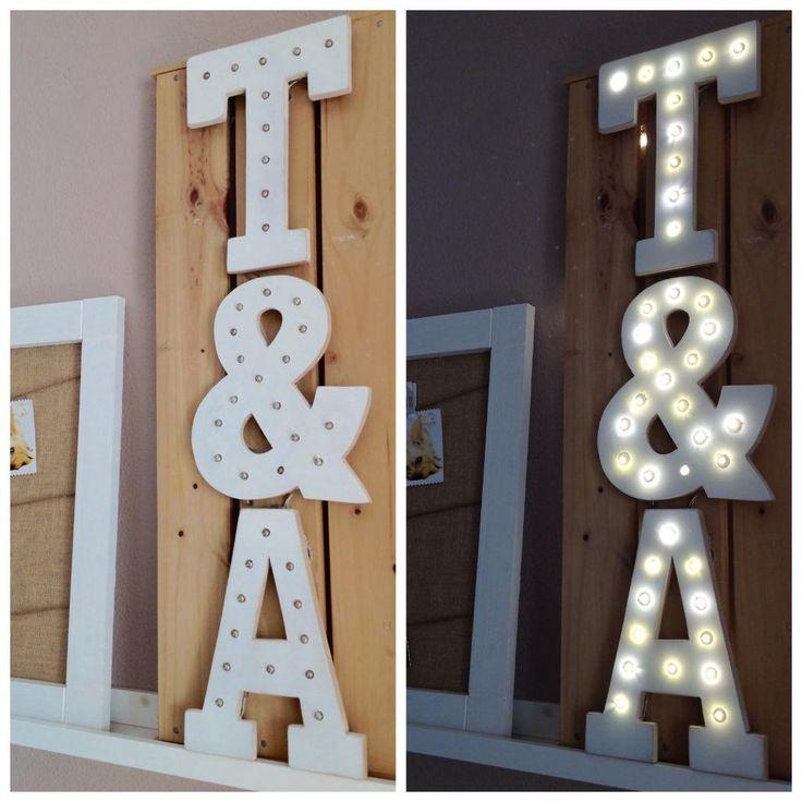 En este proyecto vamos a aprender a hacer unas letras luminosas que tan de moda están en la decoración actual.    -Imprimimos las letras en el tamaño deseado (las mías son tamaño folio)   -Recortamos y dibujamos sobre un tablero MDF   -Cortamos cada letra con la sierra de calar   -Li...