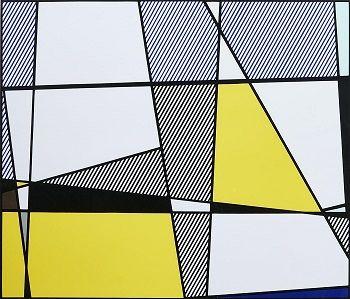 Vente jeudi 17 mars 2016 par l'Hôtel des Ventes Giraudeau à Paris : LICHTENSTEIN Roy (1923-1997) Cow (yellow and blue) Sérigraphie sur papier (triptyque) SBD mine de plomb dans la marge 65,5 x 76,5 cm Fratelli Alinari, prntr, pub. Tirage 112/150. Est. 7 000 - 8 000 euros.