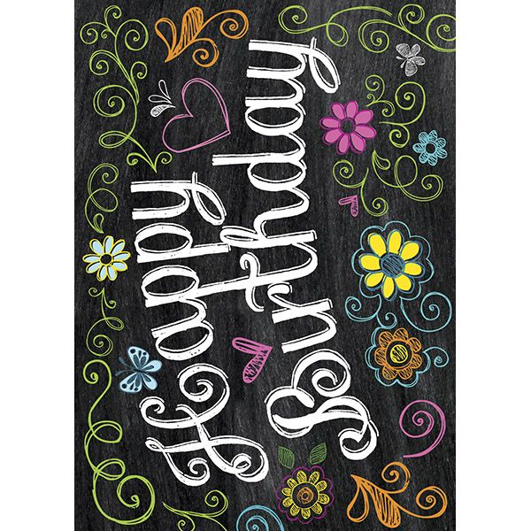 Happy Birthday Chalkboard Effect Card