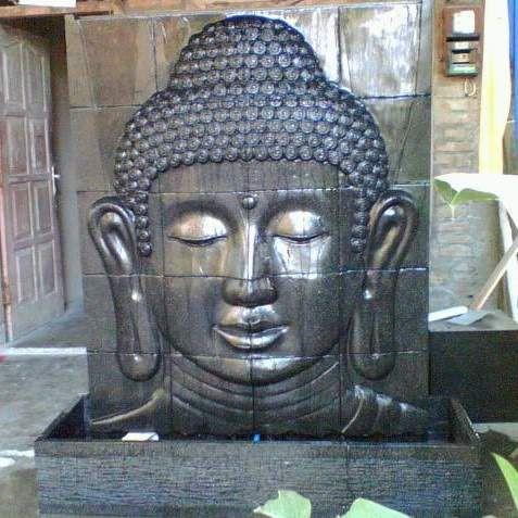Charming Brunnen Stein Budha Relief Wasserspiel Garten Deko