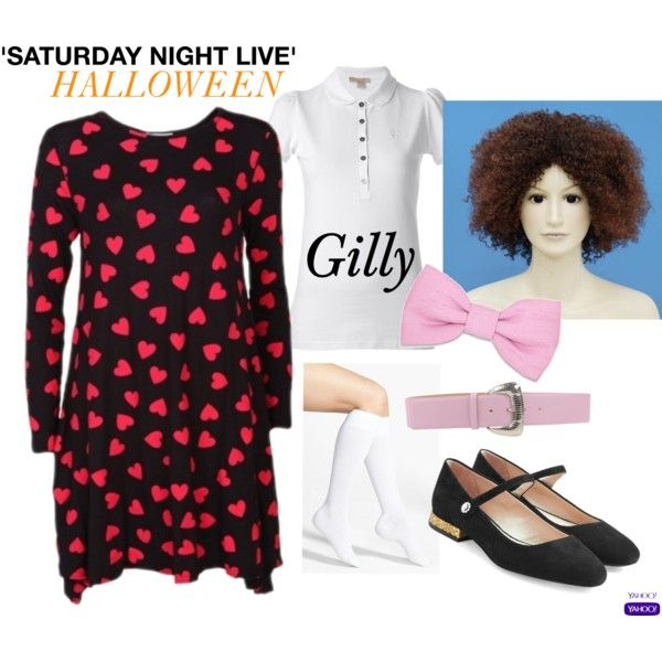 'SNL' Halloween Costume: Gilly by chrissy-le-nguyen on Polyvore featuring Burberry, Wigs2You, Nordstrom, Marc Jacobs, Giordano Frangipani and Warehouse