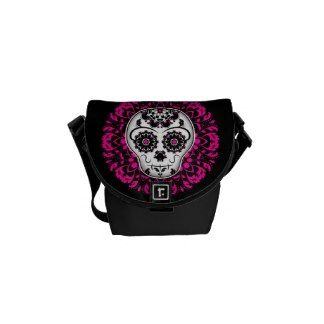 Girly day of the dead sugar skull commuter bag