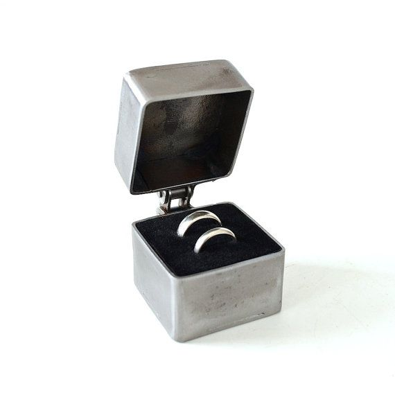 Industrial Ring Bearer Box Wedding Ring Box by CitiZenoBjeCts, $68.00