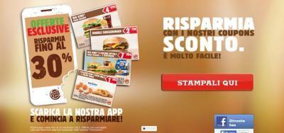 Burger King sconto su 18 prodotti coi nuovi voucher sconto