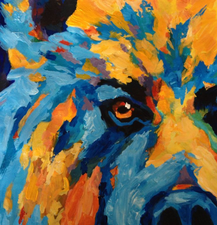 """Pastiche of Theresa Paden's """"bright and colourful grizzly bear"""""""