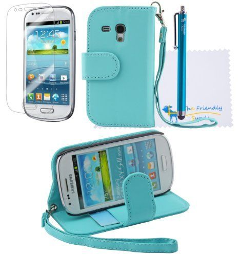 The Friendly Swede (TM) 2 in 1 PU Leather Folio Stand Wallet Case for Samsung Galaxy S3 III Mini i8190 + Stylus + Screen Protector + Cleaning Cloth in Retail Packaging - ONLY Compatible with Galaxy S3 III Mini i8190 (Blue), http://www.amazon.com/dp/B00CRTDYB4/ref=cm_sw_r_pi_awd_hlhosb1YP8K7D