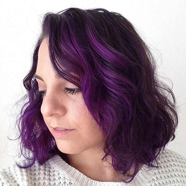 So this happened yesterday and I'm so obsessed! Who wants a fun change for the Fall?!?! Make your next appointment with me! #hairbyjames #hairstyle #hairart #haircolor #violet #hair #purple #purplehair #purplehighlights #wellablondor #olaplex #pravana #pravanavivids #fall #fallfashion #hairstylist #lovemyjob #fortmyers #capecoral #estero #bonitasprings #naplesflorida