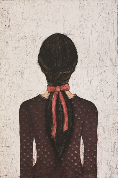 "Kirsi Neuvonen ~ ""In Memories"" (2014) *Muistoissa* Sisters series; line etching, aquatint 60 x 40 cm via Art Gallery Shop Copperfield, Finland"