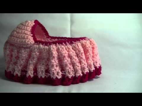 Crochet Cradle Purse Part 2 of 3 Bag / purse that turns into a Doll Cradle - YouTube