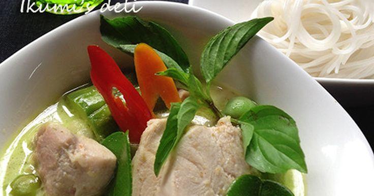 タイのカレーはココナッツ作品のルクを使ったシャプシャプとしたスープカレーのようなもの。 グリーンカレーの本当の作り方を紹介。