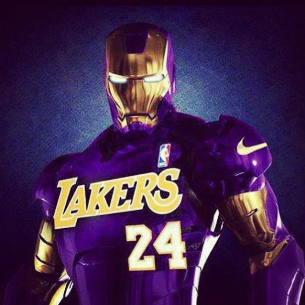 Iron Man loves Kobe, too! #lakers #24 #blackmamba