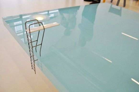 Love this swimming pool coffee table