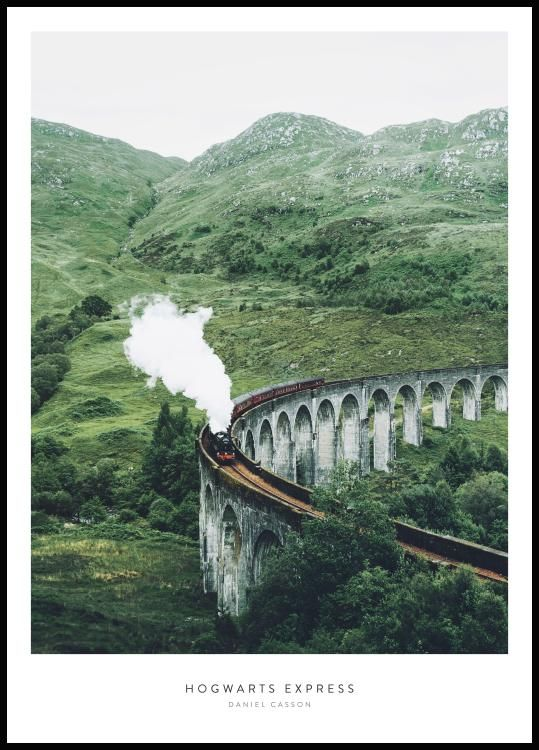 Hogwarts Express foto poster tåg