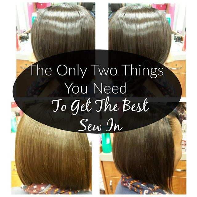 The ONLY two things you need to get the best sew in! (www.latoyajonesblog.com)