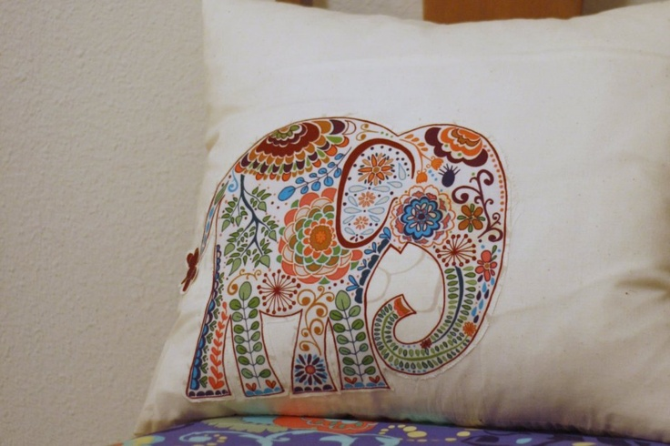 Throw Pillows Uncovered : 44 best images about elephant embroidery on Pinterest Origami elephant, Elephant print and ...
