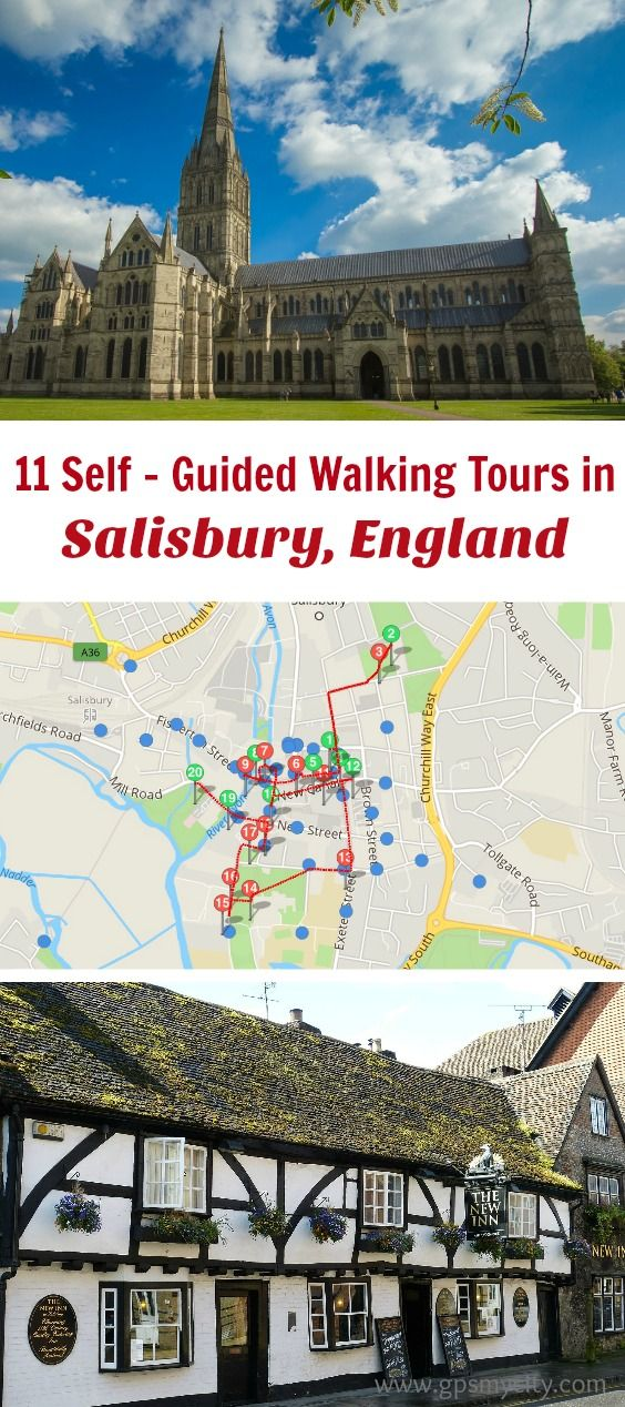 Follow these 11 expert designed self-guided walking tours in Salisbury, England to explore the city on foot at your own pace. Each walk comes with a detailed tour map and together they are the perfect Salisbury city guide for your trip.