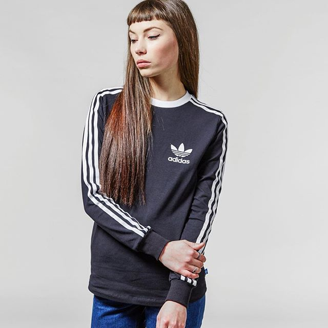 3 Stripe Long Sleeved T-Shirt - Available online, in size? for women and in  size? stores now, priced at -