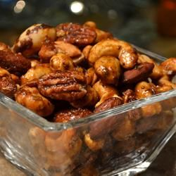 """Sweet, Salty, Spicy Party Nuts 