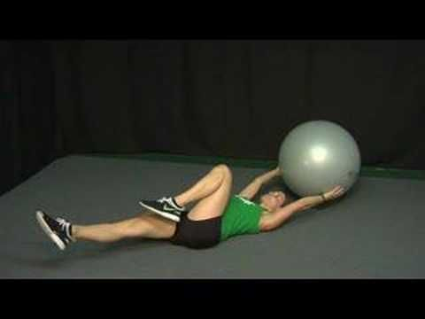 Stability Ball Combination Exercises : Stability Ball Exercises: Single Leg Stretch