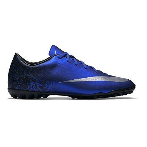 Nike Men's Mercurial Victory V Cr Tf Dp Ryl Bl/Mtllc Slvr/Rcr Bl/Bl Turf  Soccer Shoe 10.5 Men US