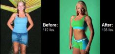 Michelle has made an amazing transformation by taking her body weight from 170 Lbs. down to 135 Lbs.