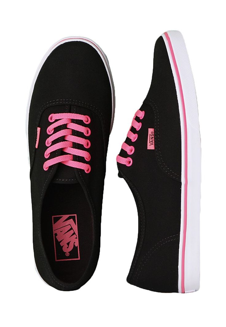 vans for girls black and pink