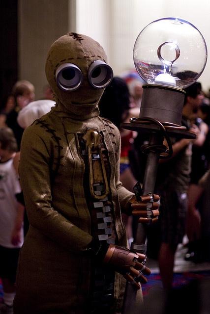 Nine cosplay. Wow amazed and frightened.