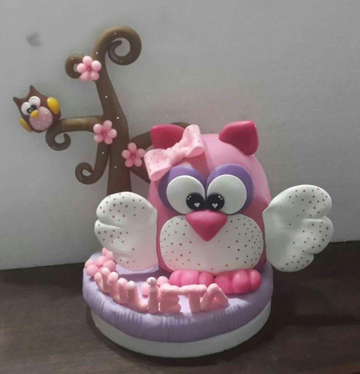 Adorno de torta en Porcelana Fria